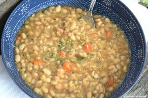 Slow Cooker White Bean Soup - Gluten Free & Vegan