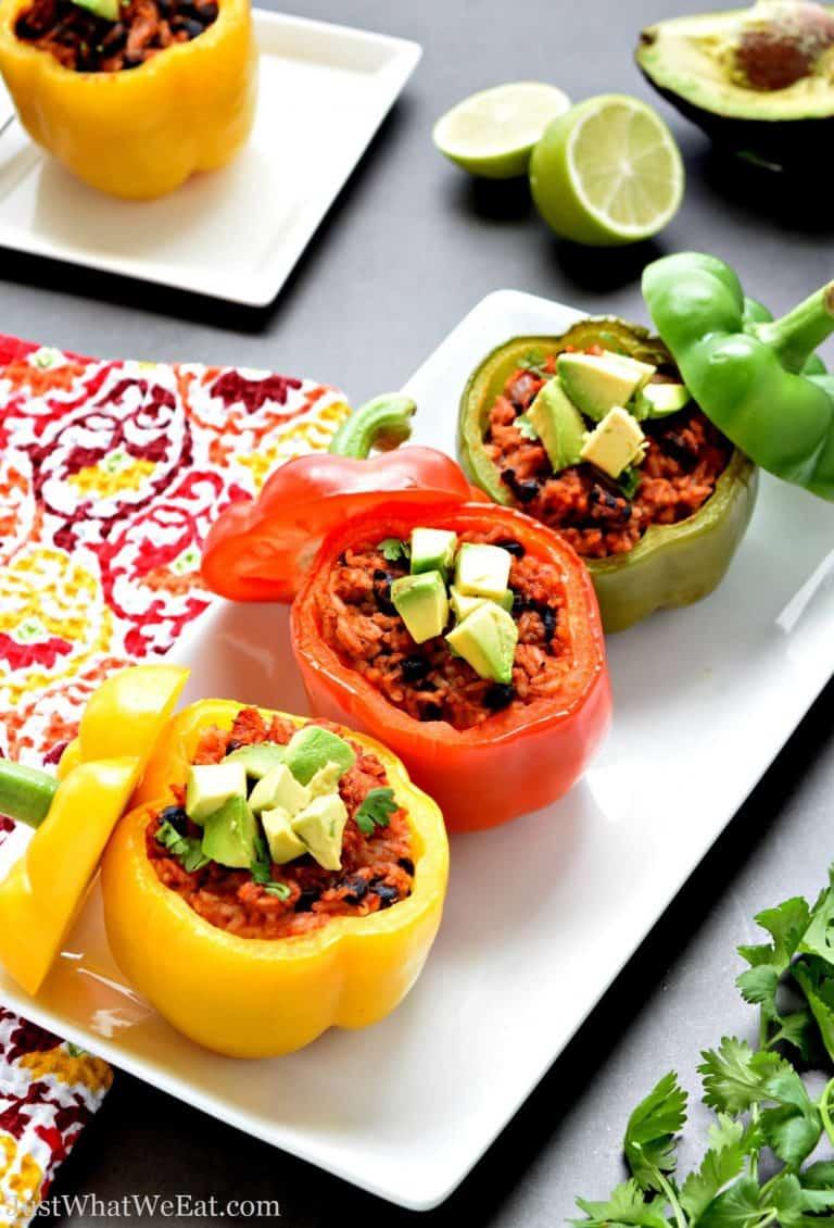 Healthy Stuffed Bell Peppers – Gluten Free & Vegan