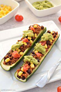 Mexican Zucchini Boats - Gluten Free, Vegan