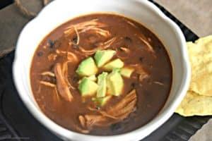 Slow Cooker Chicken Enchilada Soup - Gluten Free Dairy Free