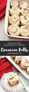 Cinnamon Rolls - Gluten Free, Vegan, Refined Sugar Free, & Yeast Free