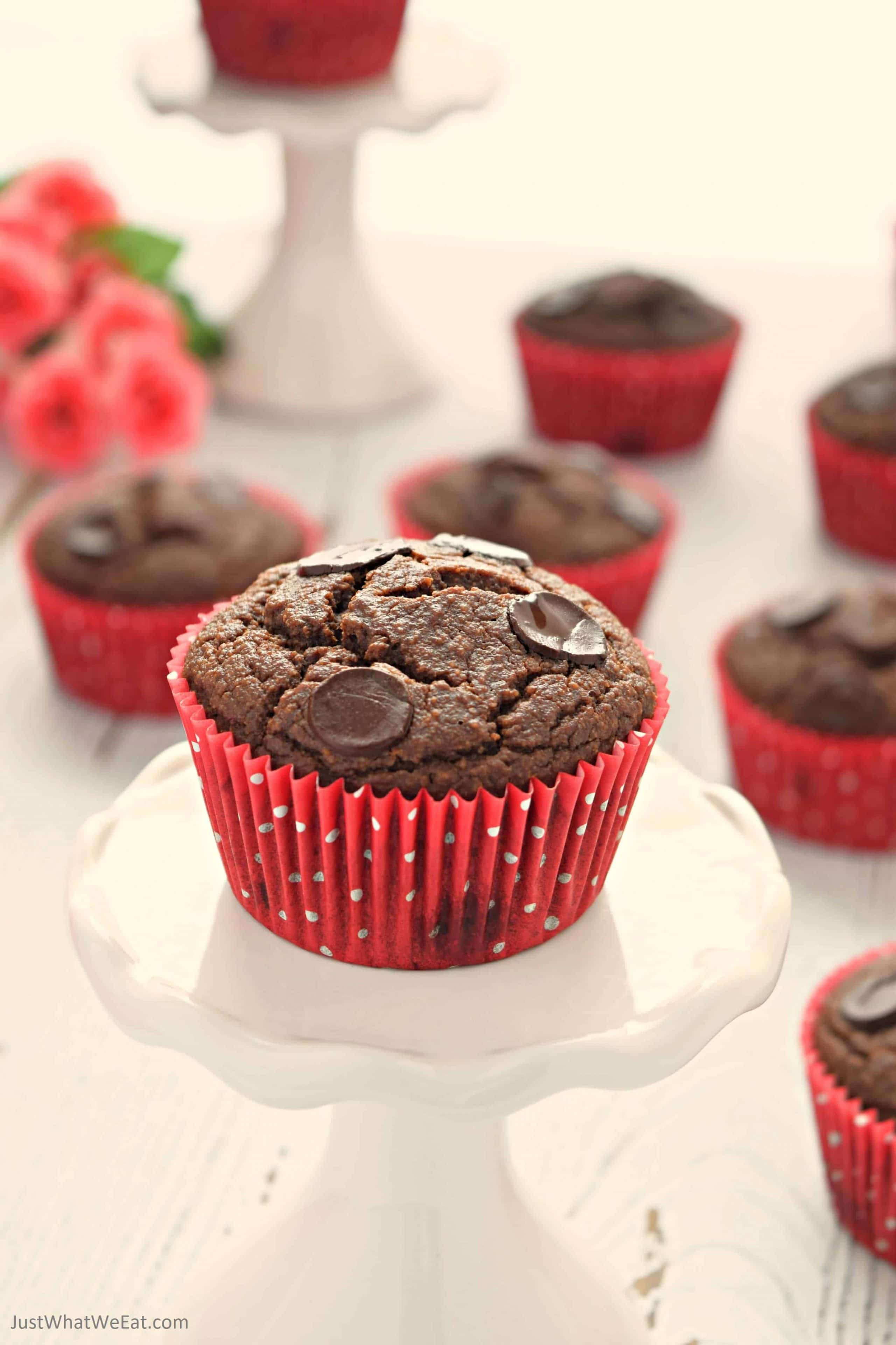 Double Chocolate Muffins - Gluten Free, Vegan