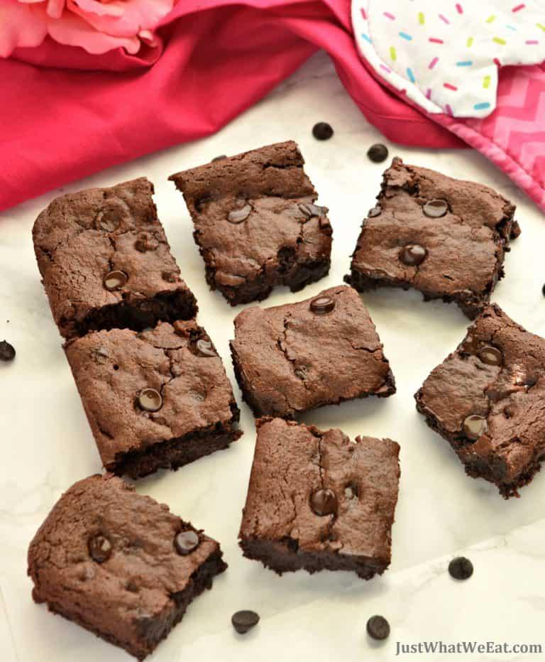 Healthy Fudgy Brownies – Gluten Free, Vegan, & Refined Sugar Free