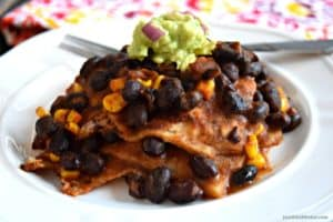 Enchilada Casserole - Gluten Free & Vegan