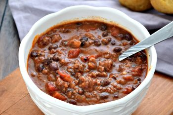 Beef and Bean Chili - Gluten Free, Dairy Free