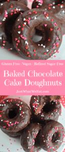 Baked Chocolate Cake Donuts - Gluten Free, Vegan, & Refined Sugar Free