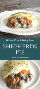 This Shepherds Pie is creamy, hearty, and the best kind of comfort food. Really the best part about it is that it's an allergy friendly delicious meal that I can feel good about feeding to my family! #glutenfree #dairyfree #dinner #recipes #comfortfood