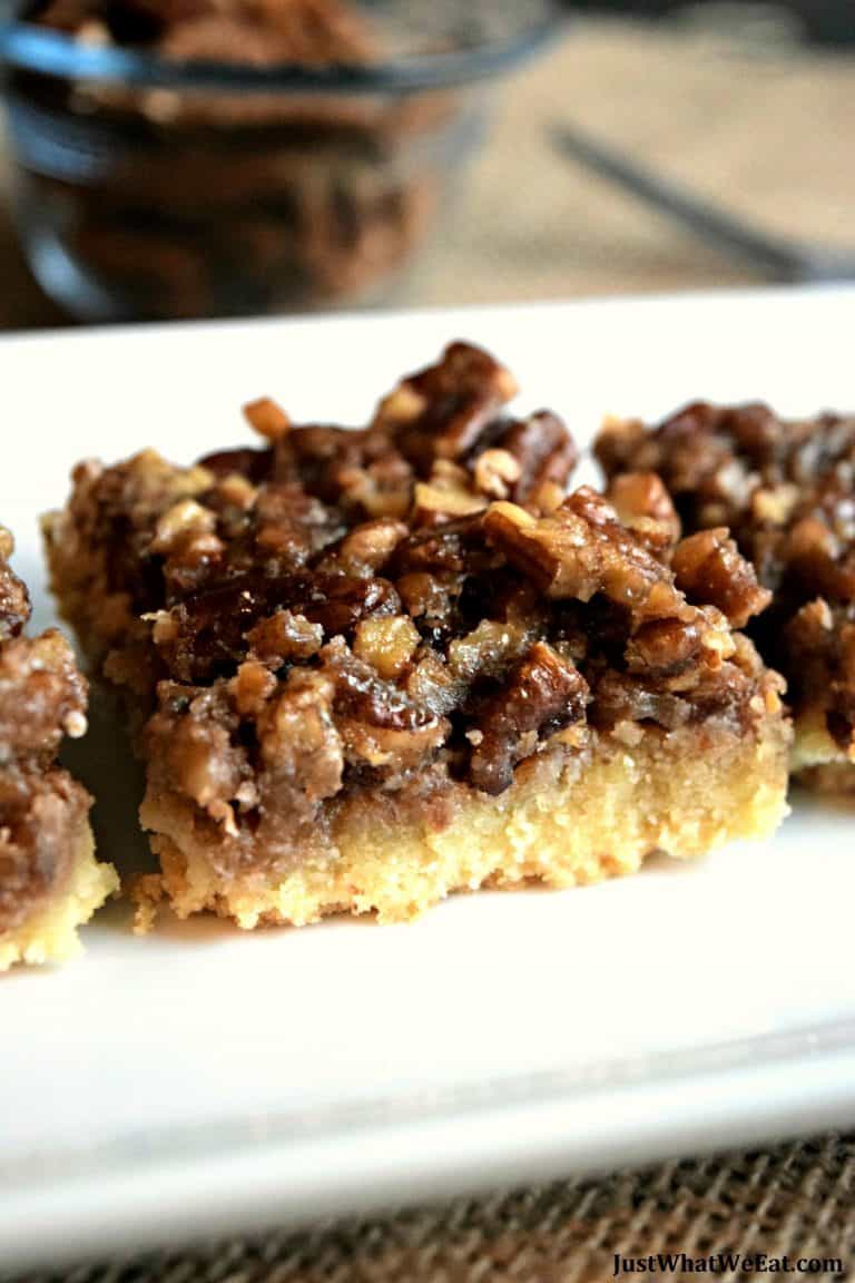 Healthy Pecan Pie Bars – Gluten Free, Vegan