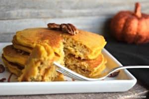 Pumpkin Waffles and Pancakes - Gluten Free, Vegan, & Refined Sugar Free