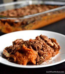 Sweet Potato Casserole - Gluten Free, Vegan, Refined Sugar Free