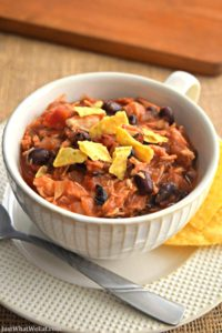 Slow Cooker Chicken Taco Chili - Gluten Free and Dairy Free