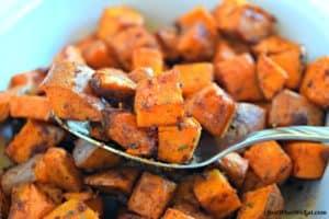 BBQ Roasted Sweet Potatoes - Gluten Free & Vegan