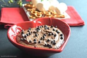 Chocolate Peanut Butter Dessert Hummus - Gluten free & Vegan