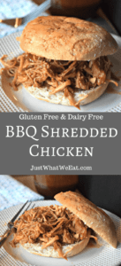 BBQ Shredded Chicken - Gluten Free & Dairy Free