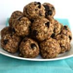 Chocolate Chip Oatmeal Energy Bites - Gluten Free & Vegan