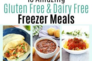 These gluten free and dairy free freezer meals were amazing to have when my son was born. They all tasted delicious and were so easy to put together!