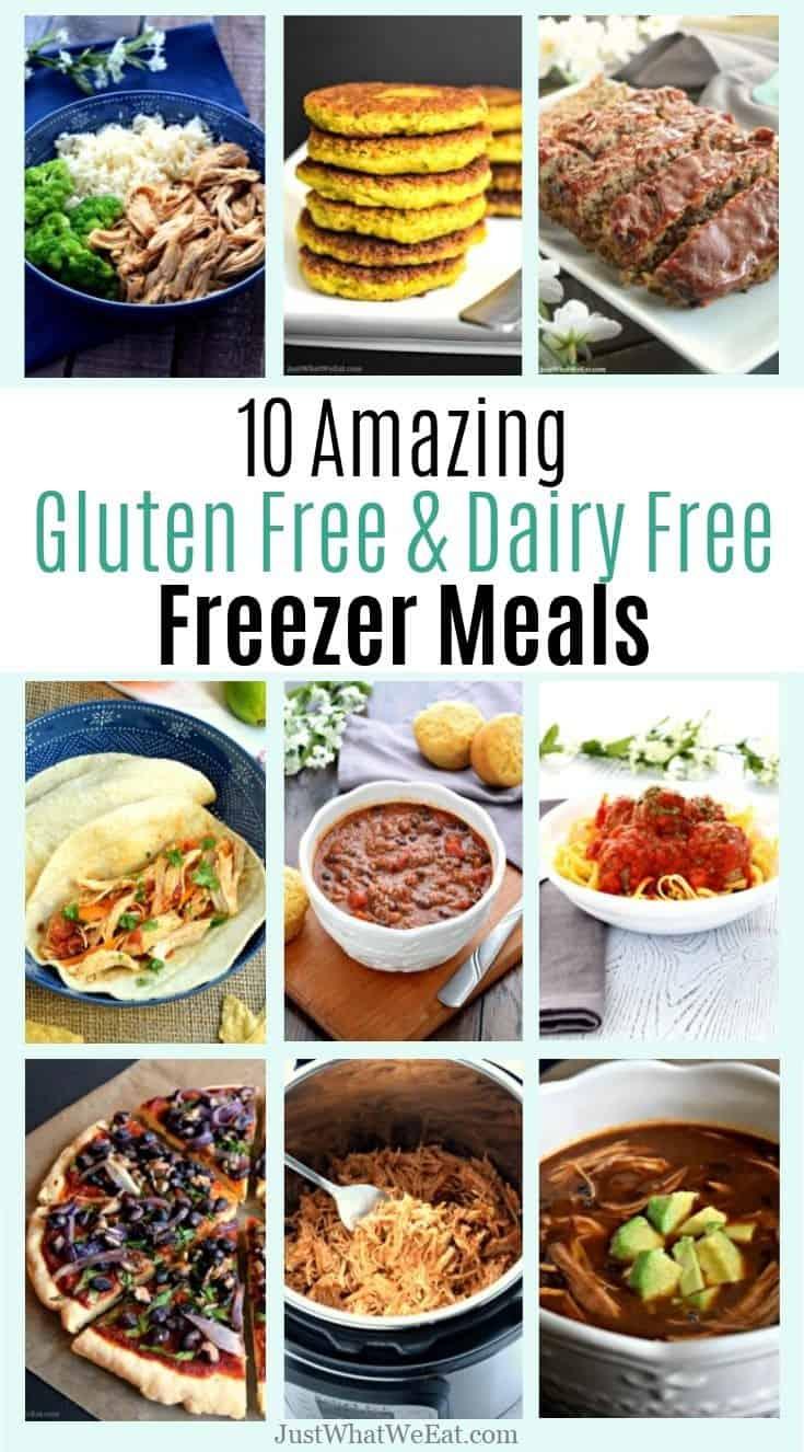 10 Gluten Free & Dairy Free Freezer Meals