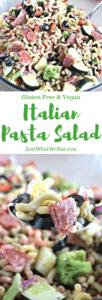 Italian Pasta Salad - Gluten Free & Vegan