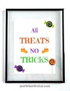 All Treats No Tricks white background