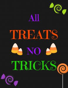 All Treats No Tricks - black