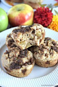 Apple Crumble Muffins - Gluten Free, Vegan, and Refined Sugar Free