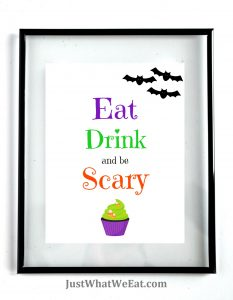 Eat Drink and Be Scary - White