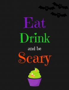 Eat Drink and be Scary - Black