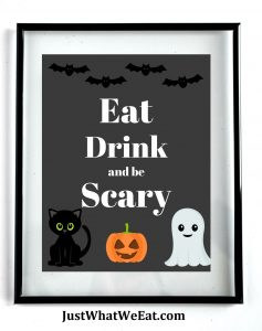 Eat Drink and be Scary Printable Halloween Decor