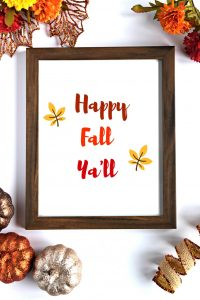 Happy Fall Yall Fall Printable Decor