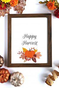 Happy Harvest Fall Printable