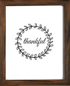 Thankful Wreath Printable Decor