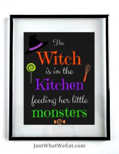 The Witch Is In The Kitchen - Black