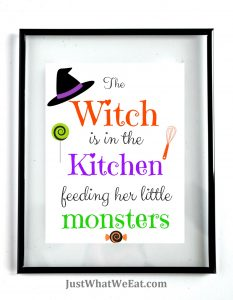 The Witch Is In The Kitchen - White