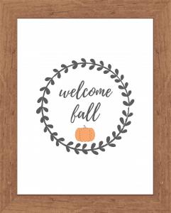 Welcome Fall Printable Decor