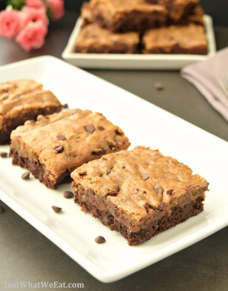 Brownie Cookie Bars – Gluten Free & Vegan