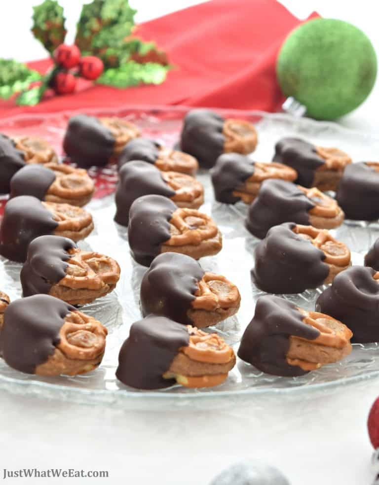 Chocolate Covered Peanut Butter Pretzel Bites – Gluten Free & Vegan