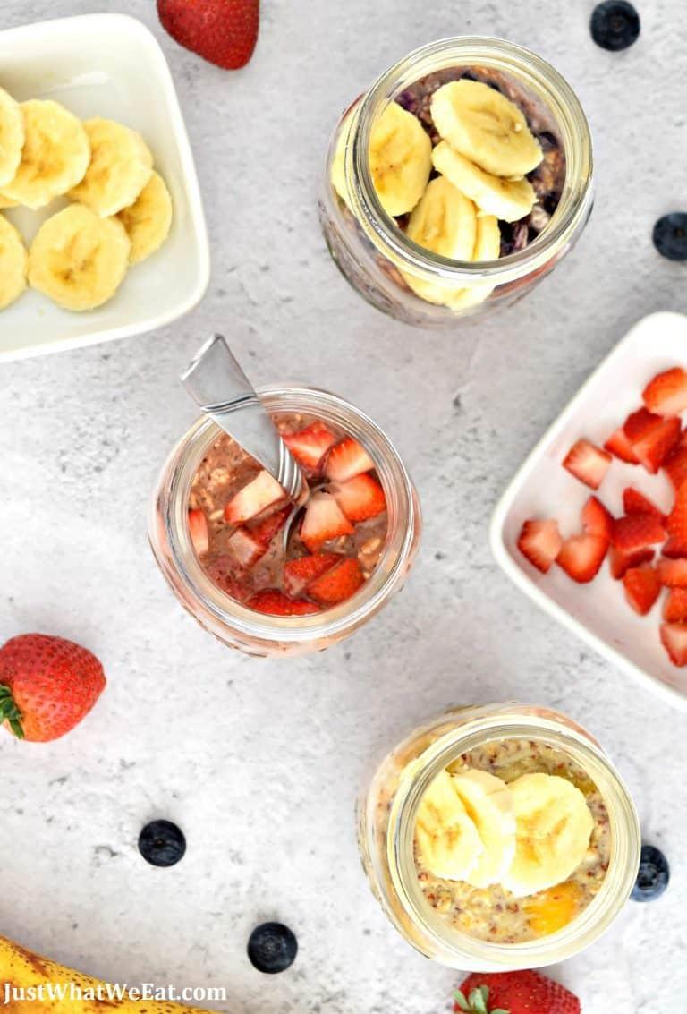 3 Easy Overnight Oats Recipes – Gluten Free, Vegan, Refined Sugar Free