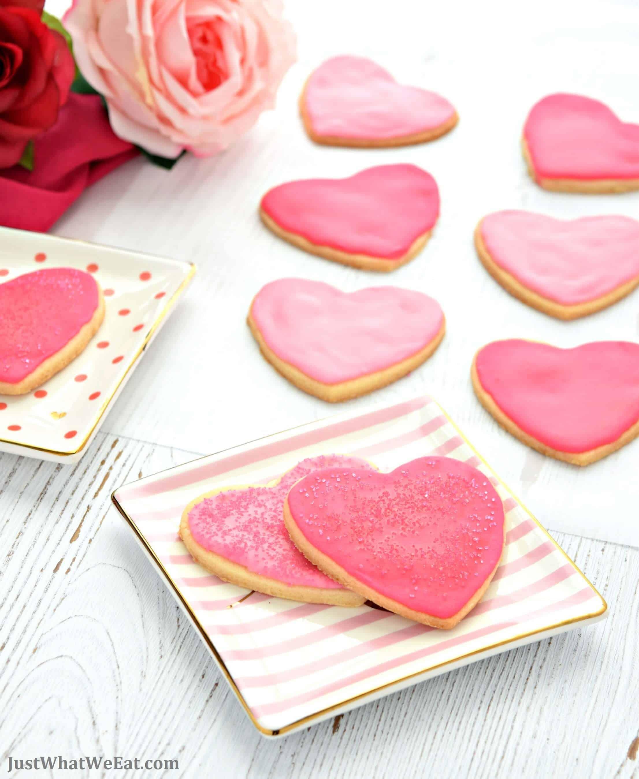 Valentine's Day Cut Out Cookies - Gluten Free, Vegan