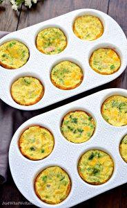 Breakfast Egg Muffins - Gluten Free, Dairy Free