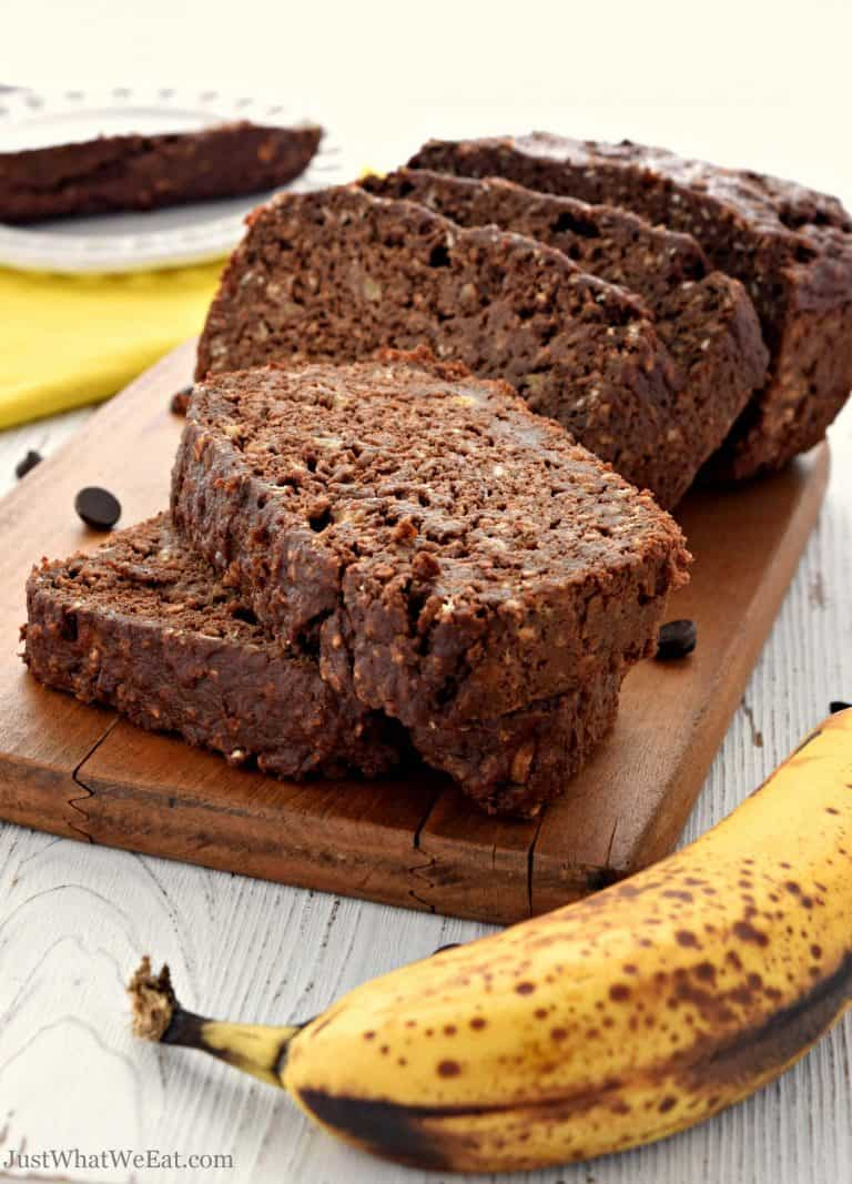 Chocolate Banana Bread – Gluten Free, Vegan, Dairy Free