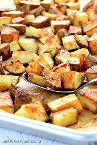 Gluten Free and Vegan Garlic Roasted Potatoes