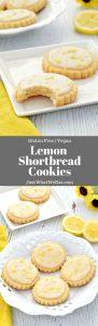 Lemon Shortbread Cookies that are gluten free, vegan, and dairy free