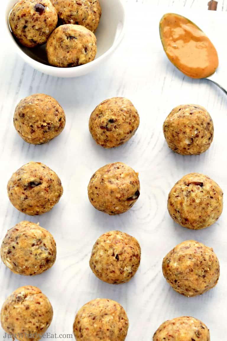 Maple Peanut Butter Energy Balls – Gluten Free, Vegan, Refined Sugar Free