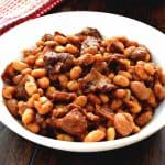 These BBQ Baked Beans with Bacon are one of my all time favorite side dishes! They are so easy to make and taste amazing!