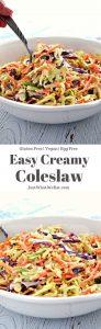 Creamy Coleslaw Recipe - Gluten Free, Vegan, Egg Free