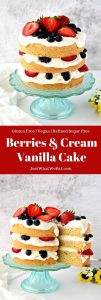 This vanilla gluten free cake recipe is so easy to make and tastes delicious! It's also vegan and refined sugar free making it the perfect treat for any occasion!