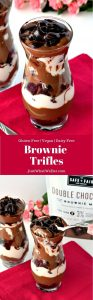 These gluten free and vegan Brownie Trifles are so decadent and make the perfect dessert for any occasion! With layers of fudgy brownie, chocolate pudding, coconut whipped cream, and chocolate sauce, this is sure to be a dish everyone will love! Gluten Free | Vegan | Dairy Free | Dessert #glutenfree #dairyfree #glutenfreerecipes #dairyfreerecipes #veganrecipes #dessertrecipes
