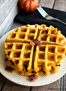 These gluten free, vegan, and refined sugar free pumpkin waffles and pancakes were AMAZING! One of the best parts about this recipe is that you can use the same batter for pancakes and waffles. The pancakes were soft and fluffy and the waffles were perfectly crispy on the outside and soft on the inside.