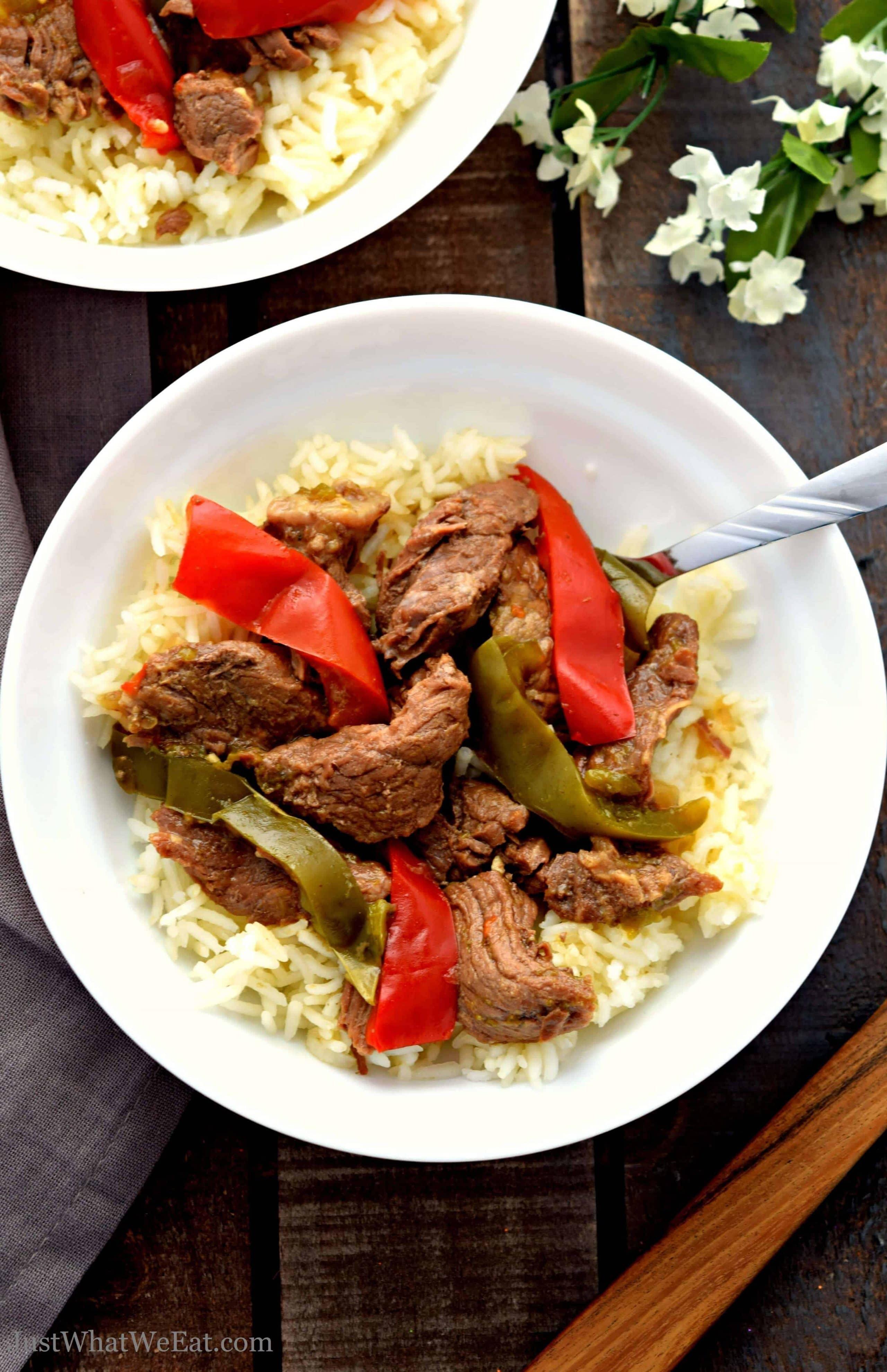 Slow Cooker or Instant Pot Pepper Steak - Gluten Free ...