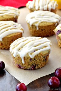 These Cranberry Orange muffins are delicious and have a wonderful soft texture. They are gluten free, dairy free, egg free, and so easy to make! #glutenfree #dairyfree #muffins #cranberry #orange #eggfree #vegan